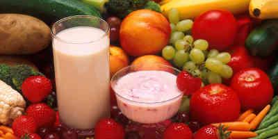 Probiotics fruit and yoghurts
