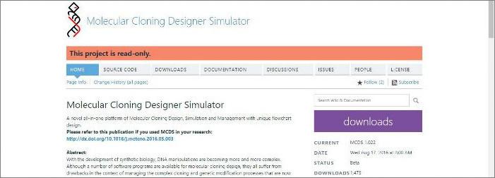 Molecular Cloning Designer Simulator