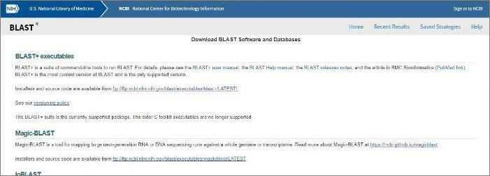 NIH BLAST Tools